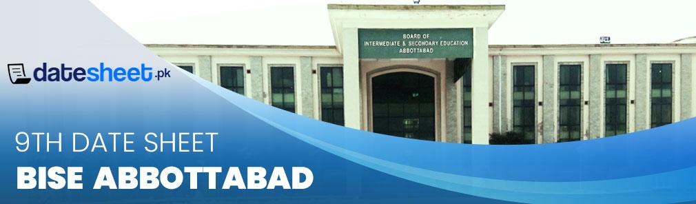 Bise Abbottabad 9th Date Sheet 2020