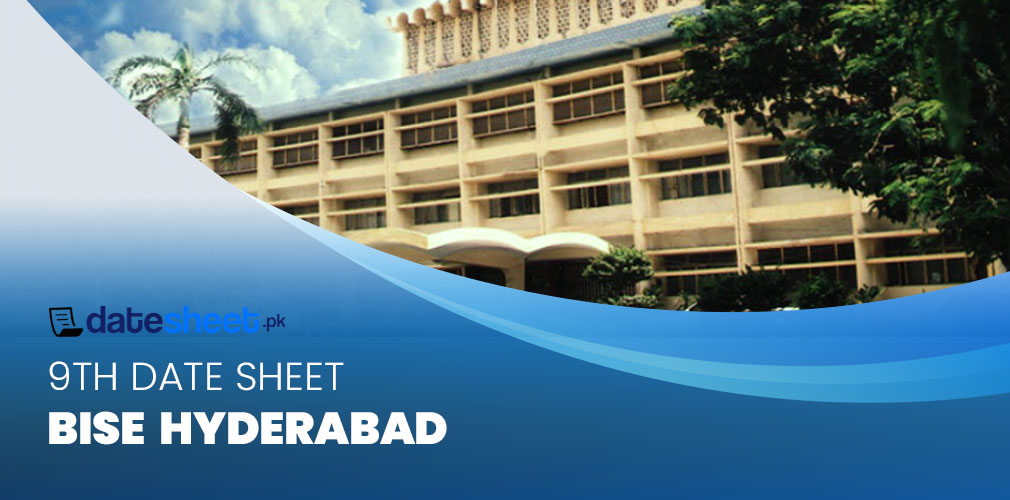 BISE Hyderabad 9th Date Sheet 2020