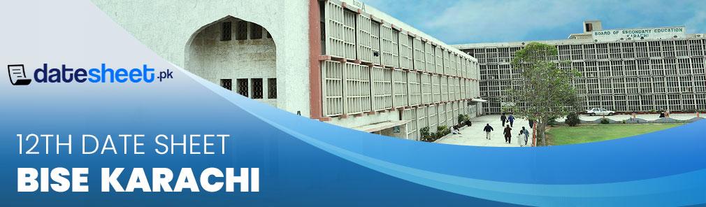 BIEK Karachi 12th Date Sheet 2020