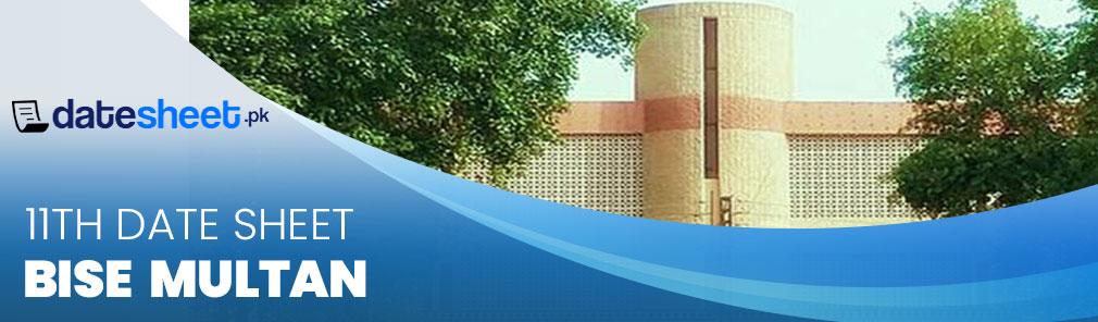 Bise Multan Board 11th Date Sheet 2020