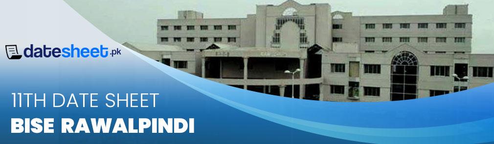 Bise Rawalpindi Board 11th Date Sheet 2020