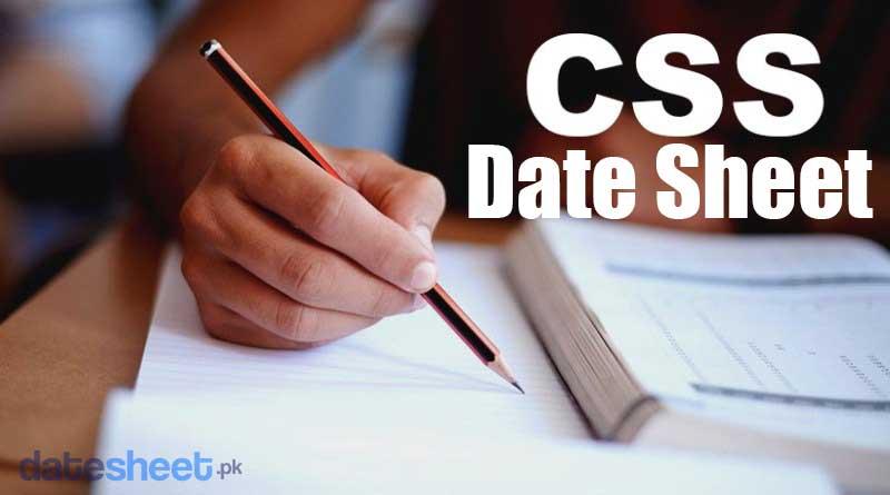 CSS Date Sheet 2020