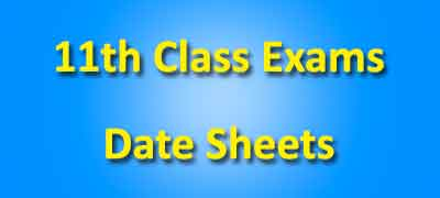 11th class datesheet 2020