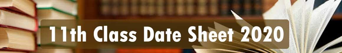 11th Class Date Sheet 2020