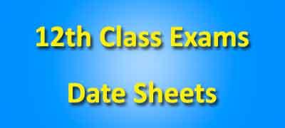 12 Class Date Sheets 2019