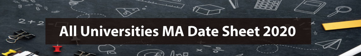 MA Date Sheet 2020