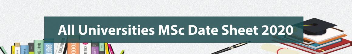 MSc Date Sheet 2020