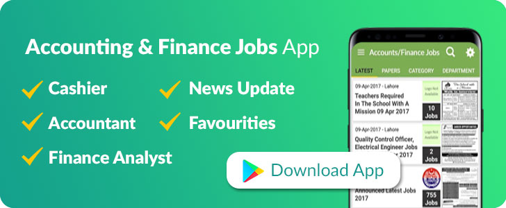 account and finance jobs in pakistan