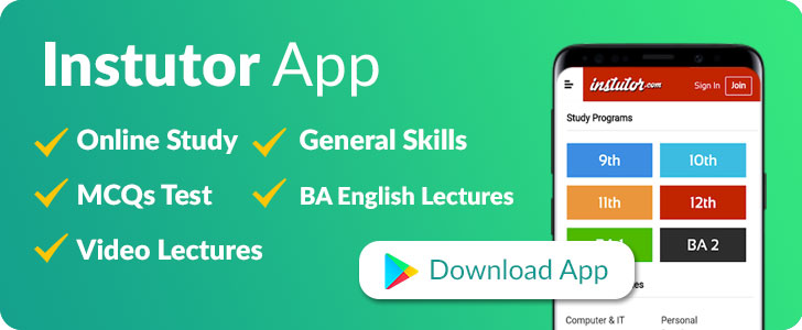 Instutor - Online lectures for Pakistani students