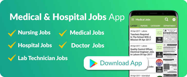 medical and hospital jobs in pakistan