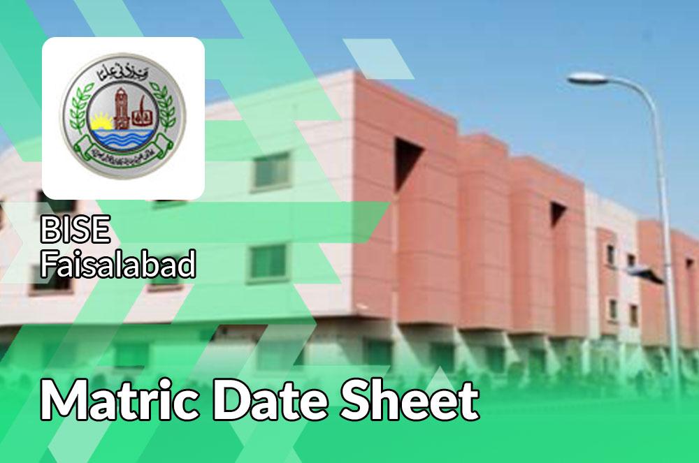 Matric Date Sheet Faisalabad Board