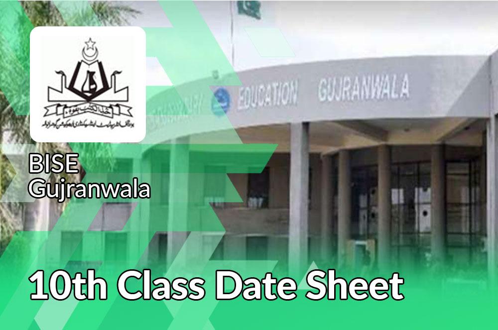10th class Date Sheet 2021 Bise Gujranwala board