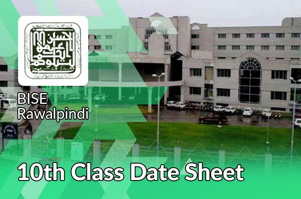 10th Class Date Sheet 2021 Rawalpinid Board
