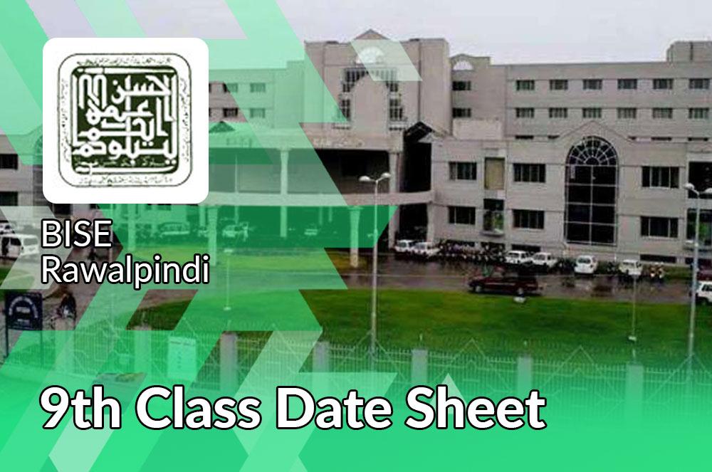 9th Class Date Sheet 2021 Rawalpinid Board