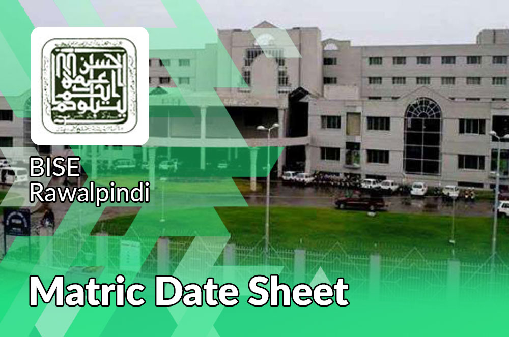 Matric Date Sheet Rawalpinid Board