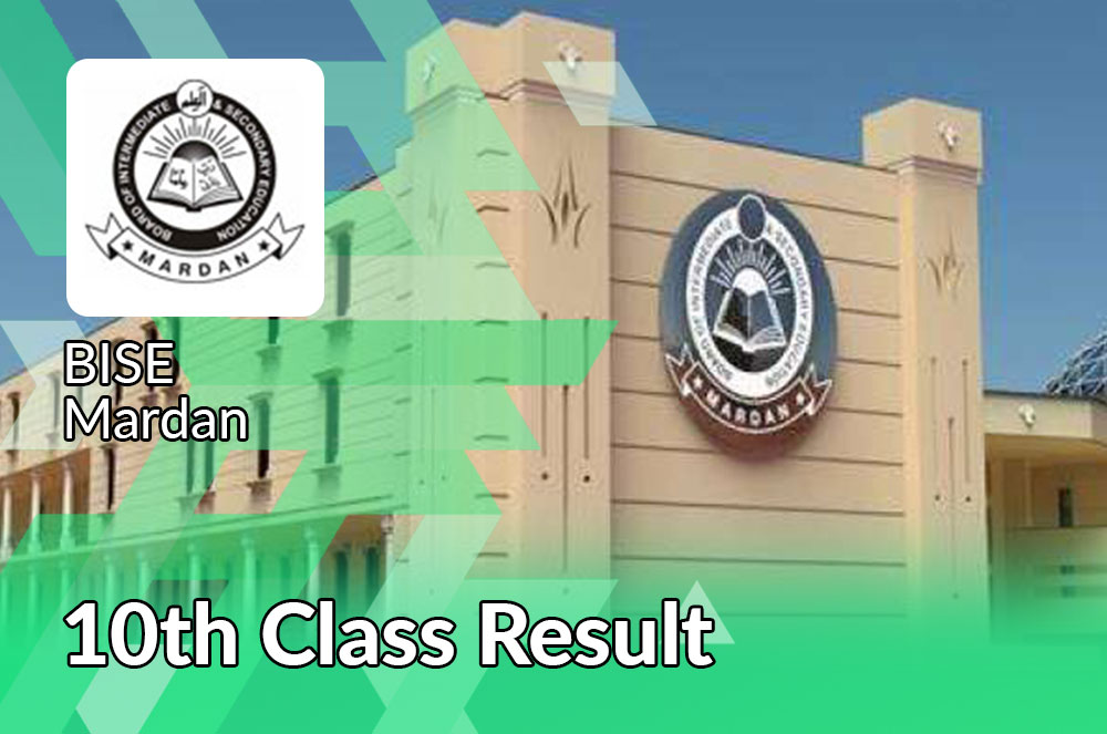 BISE Mardan board 10th class result 2021