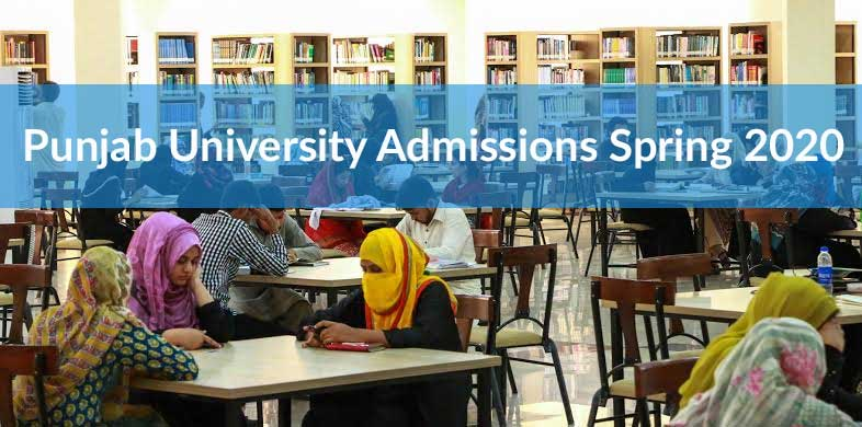 pu spring admissions 2020