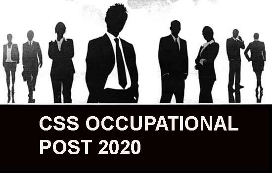 css exam occupational post 2021
