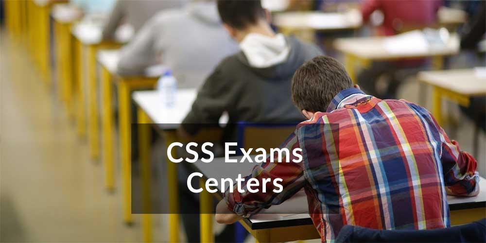 css exam centers details